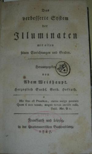 Adam Weishaupt und die Illuminaten by schwabing-antiquariat