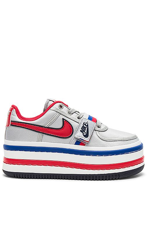 newest f07d8 b7ee2 Nike Vandal 2K Platform Sneaker in Metallic Silver   University Red    REVOLVE