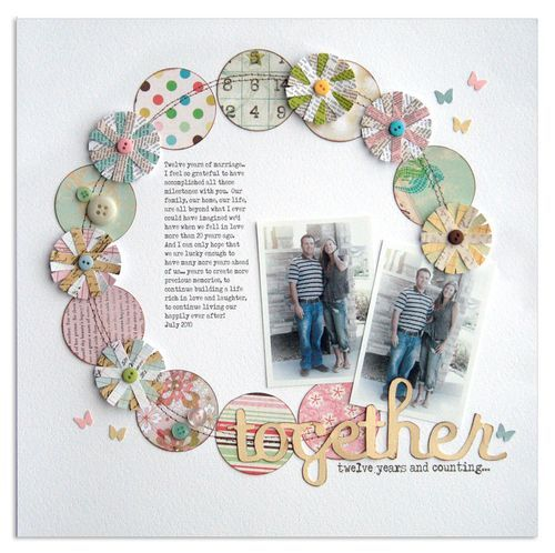 THIS layout makes me want to dig out the photos and Scrap - lovely, just lovely...