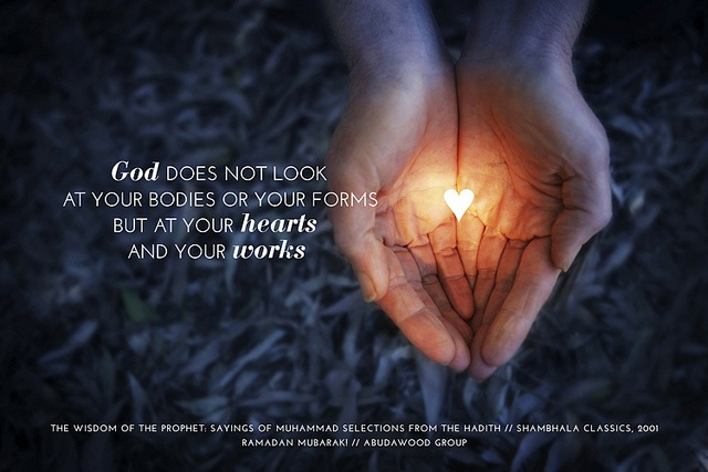 (Ramadan Card ~ Hearts)  Share these inspirational greetings with your family, friends and colleagues.  www.abudawoodglobal.com