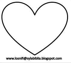 Resultado de imagen para molde de corazon para imprimir