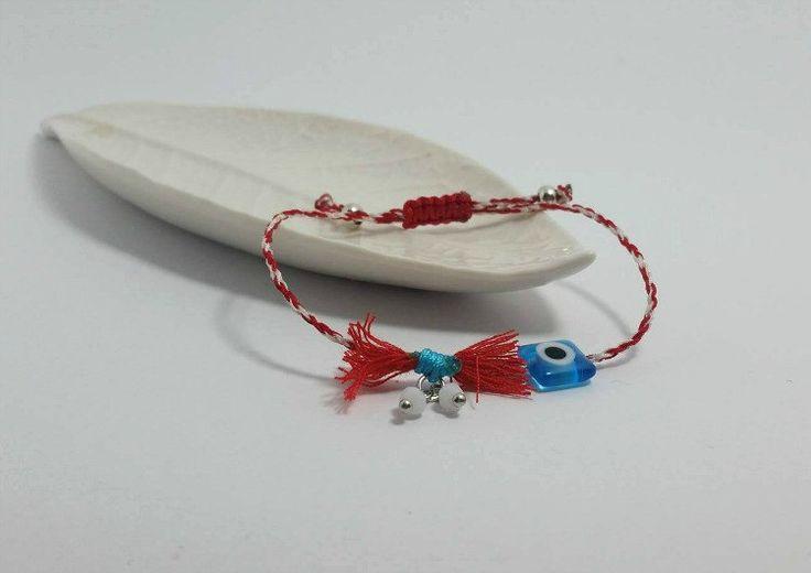 Thread bracelet,thread bracelet,red string bracelet,protective bracelet,modern bracelet ,minimal bracelet,white and red thread,macrame knot by betsyarts on Etsy