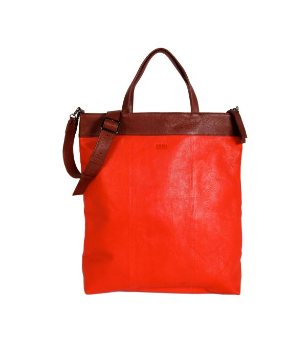 LUMI Eedit Shopping Tote Red/Brown.