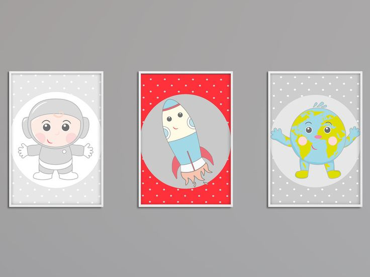 Zestaw: 3 plakaty KOSMOS A3  - Dream-zzz - Dekoracje ścienne