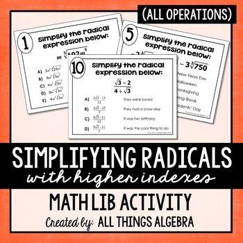 Best 25+ Simplifying radicals ideas only on Pinterest | Algebra ...