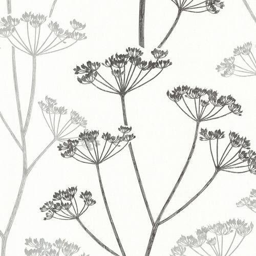 Brewster 2532-20427 Albury Black Brasilia Flower Wallpaper (Vinyl)