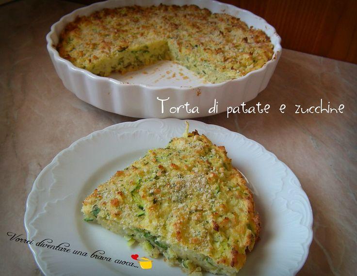 Buondì! Eccomi nuovamente con un'altra ricetta facile e golosa: la torta di patate e zucchine! Si tratta di una torta rustica, o anche semplicemente di un