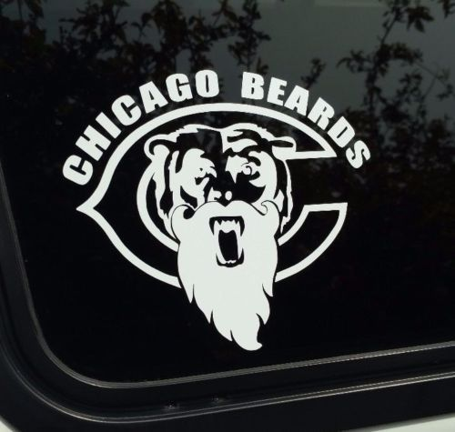Chicago beards bears decal beard moustache die cut vinyl sticker manly funny