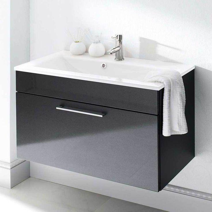 Badezimmer Waschbeckenschrank In Anthrazit Hochglanz 90 Cm Jetzt Bestellen  Unter: Https://moebel