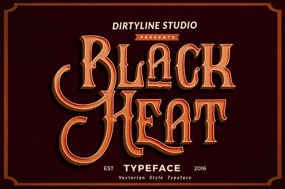 Black Heat by Dirtyline Studio on @creativemarket