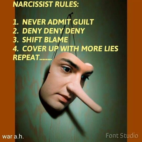 """Original poster says, """"I emphasize the blame-shifting all the time when I speak with individuals frustrated at their Narcissist's inability to simply admit wrongdoing. It's important to understand that a Narcissist will NEVER simply own up to any bad behavior or wrongdoing on their part willingly and anything you take issue with will ALWAYS somehow be the fault of another. A Narcissist will even blame something they said or did RIGHT IN FRONT OF YOU on someone else."""