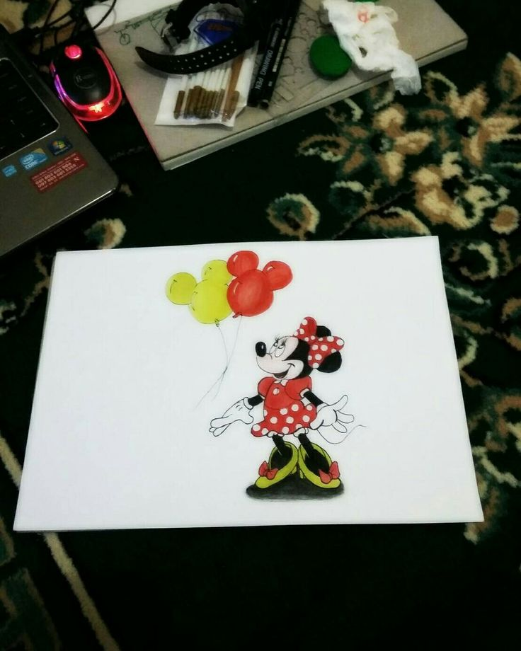 #minnie #mouse #art #watercolor #sketch