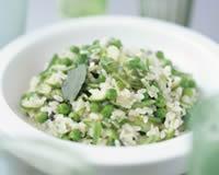 Risotto aux petits pois et aux asperges - Une recette CuisineAZ