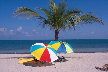 colourful umbrellas on the beach: Google Image