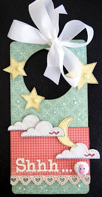 What a great door hanger for a baby's room!! Unity Stamps - could've made this for Jo