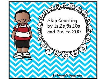 Many Math strategies rely on students to be able to jump by 5s and 10s.  This package can be used to count by 2s ,5s, 10s and 25s to 200.  You can separate the apples into groups of twenty and have the students skip count starting at various starting points.