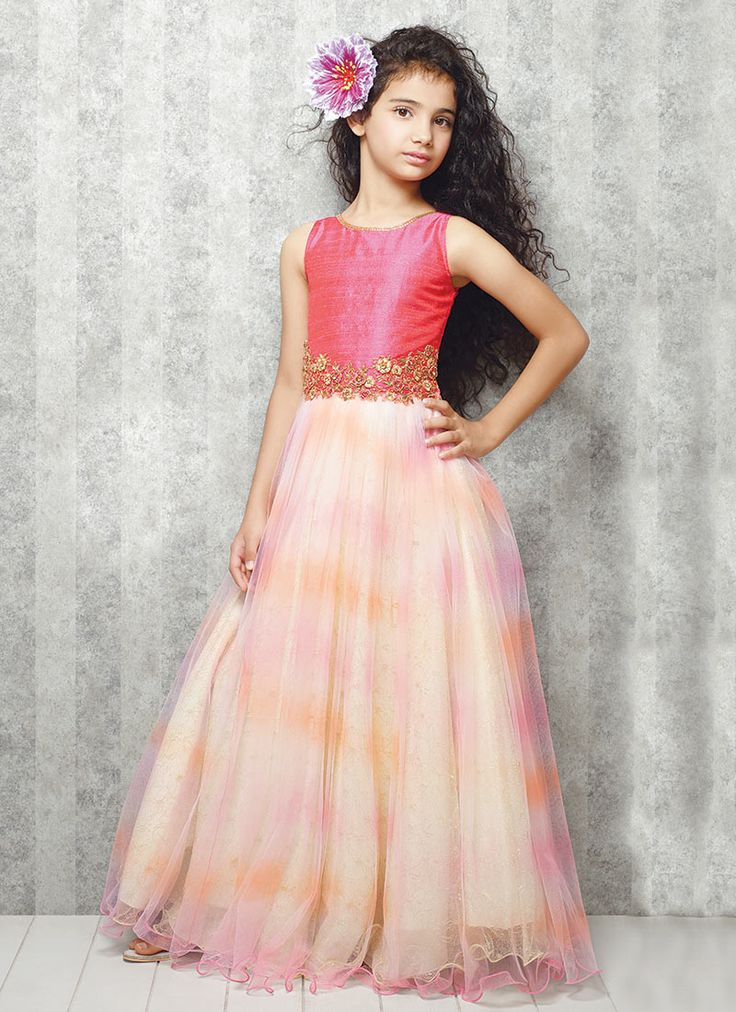 Light Pink Net Gown