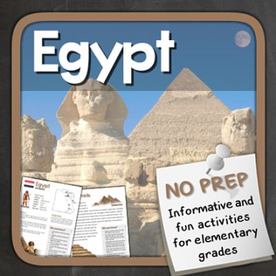 Egypt (Fun stuff for elementary grades) from Thematic Worksheets on TeachersNotebook.com - (14 pages) - Let's explore Egypt with puzzles and other fun activities. This supplemental resource is great for a country unit.