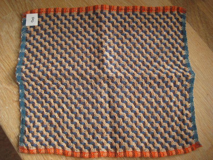Deflected double weave efter ide af Winnie Poulsen