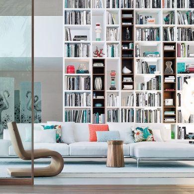 Les 17 meilleures images propos de biblioth ques sur pinterest pi ces de - Decoration bibliotheque murale salon ...