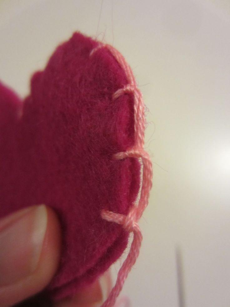 Valentine's Day Felt Heart Necklace