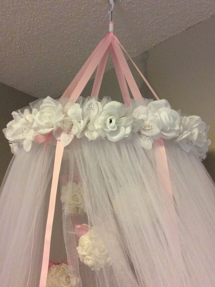 #DIY #baby #princess #canopy over #crib! #girl