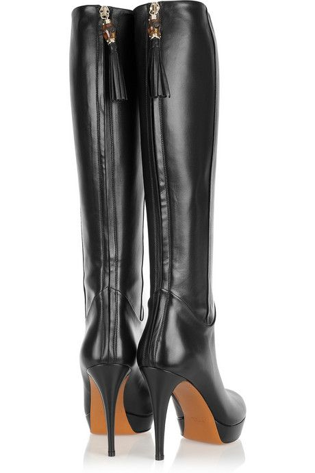 Gucci!... #DesignerShoes... #LadiesStylish. Can never have too many pairs of Black Boots!