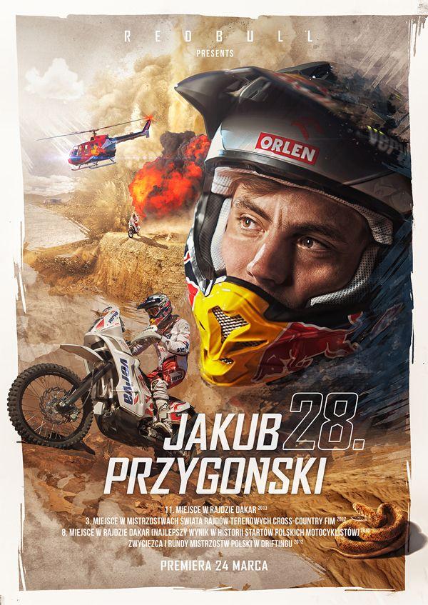 Birthday Poster for Red Bull Athlete - J. Przygoński by Mateusz Bieniusa, via Behance #printdesign #design #PrintDesignCalifornia