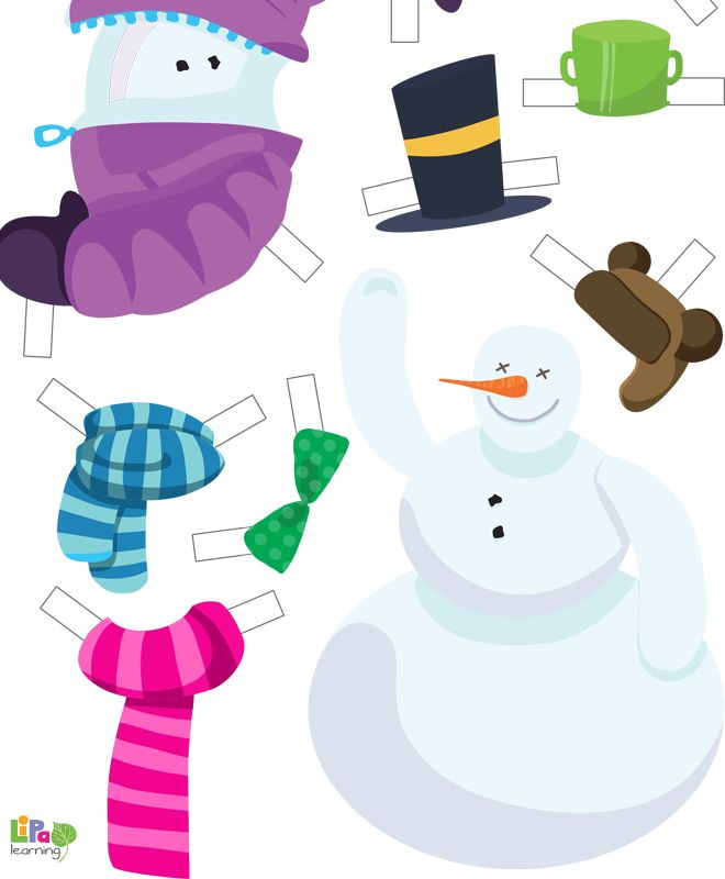 Fun crafts at home! Let's dress up the paper snowman and make him look awesome!
