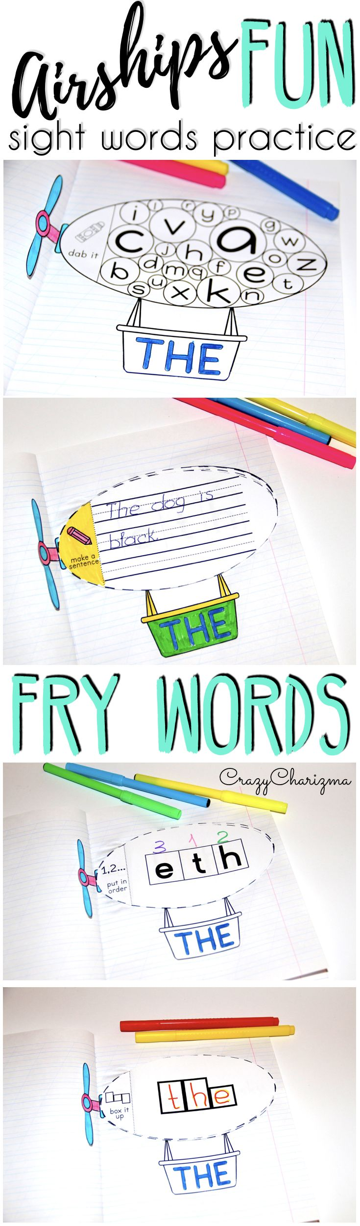 Discover an engaging way for your kids to learn and practice the new words {Fry 1-100}! This packet is easy for the students to understand and perfect for Kindergarten and Grade 1.