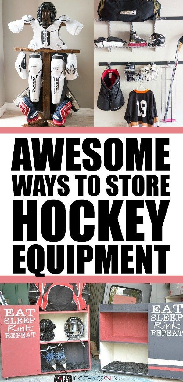 Awesome Hockey Equipment Storage Ideas Hockey Equipment Hockey Equipment Storage Equipment Storage