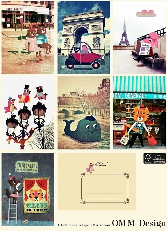 Greeting card #Paris 13x18 by #Ingela P #Arrhenius from www.kidsdinge.com https://www.facebook.com/pages/kidsdingecom-Origineel-speelgoed-hebbedingen-voor-hippe-kids/160122710686387?ref=hl