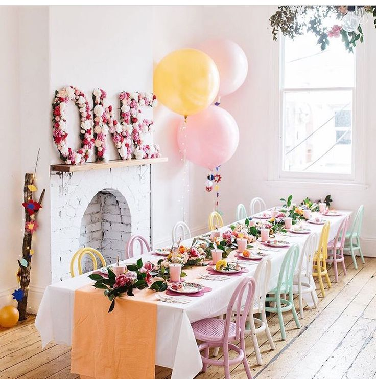 The prettiest first birthday party.