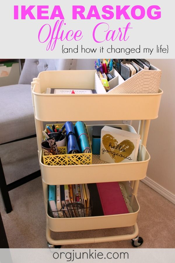 How the Ikea Raskog cart helped simplify my life forever more at I'm an Organizing junkie blog