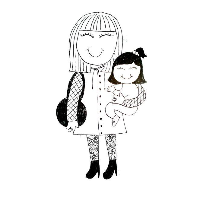 Aunt and Niece. María and Daniela.