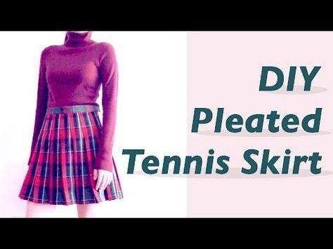 Sewing + DIY Tennis Skirt Merry Christmas everyone Easy Sewing Tutorial + How to make a pleated skirt ✂️ 핸드메이드 DIY + 테니스 (플리츠) 스커트 / 주름치마 만들기✧˖° ソーイング DIY ...