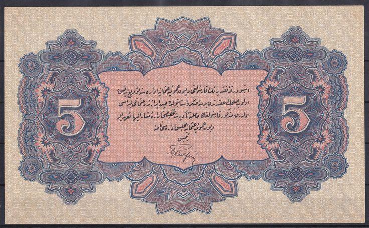 REŞAT 1331/18 5 LİRA NADİR İMZA PANFİLİ ÇİLALTI -7500 TL.