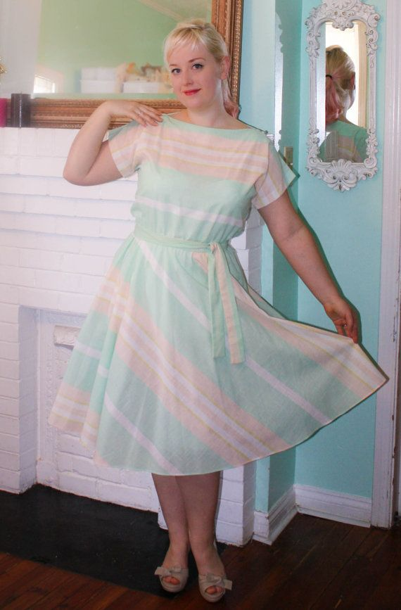 Vintage  Dress Pinup 80s does 50s Plus Size by PsychedelicPinup