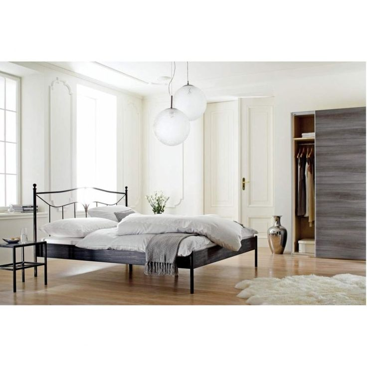 25 best ideas about metallbett 180x200 on pinterest. Black Bedroom Furniture Sets. Home Design Ideas
