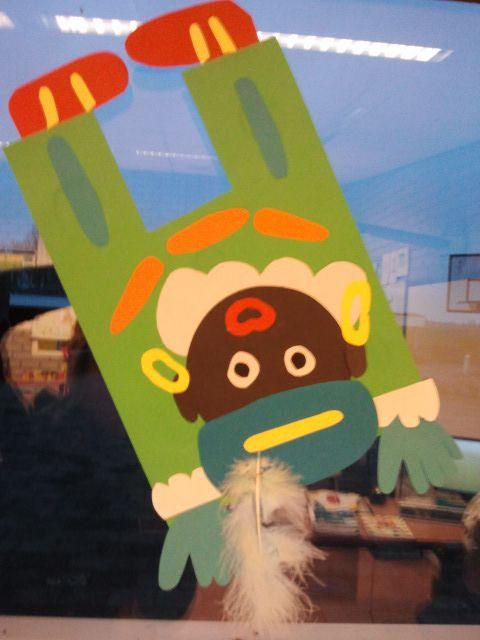 Knutselen - Zwarte Piet op zijn kop