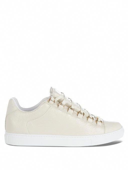 BALENCIAGA Arena low-top leather trainers.  balenciaga  shoes  sneakers   curvypetitefashion  c09f0bbc17