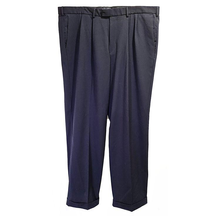 Navy Blue Slacks Dockers Mens W42 L32 Big Tall Pants Career f296