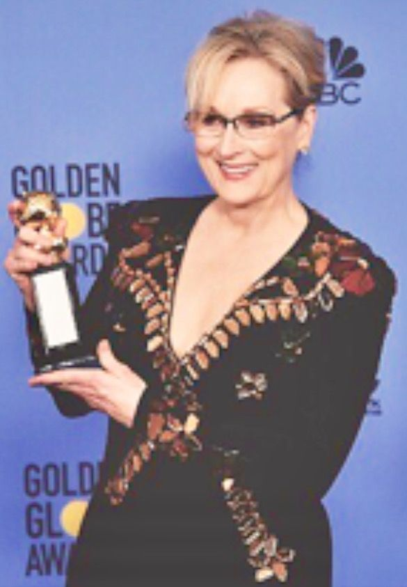 Meryl at the 2017 Golden Globes