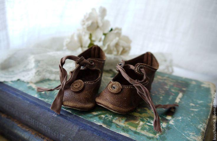 Купить Туфли шоколадные завитки - коричневый, шоколадный, шоколад, туфли, туфли из кожи, туфли для куклы