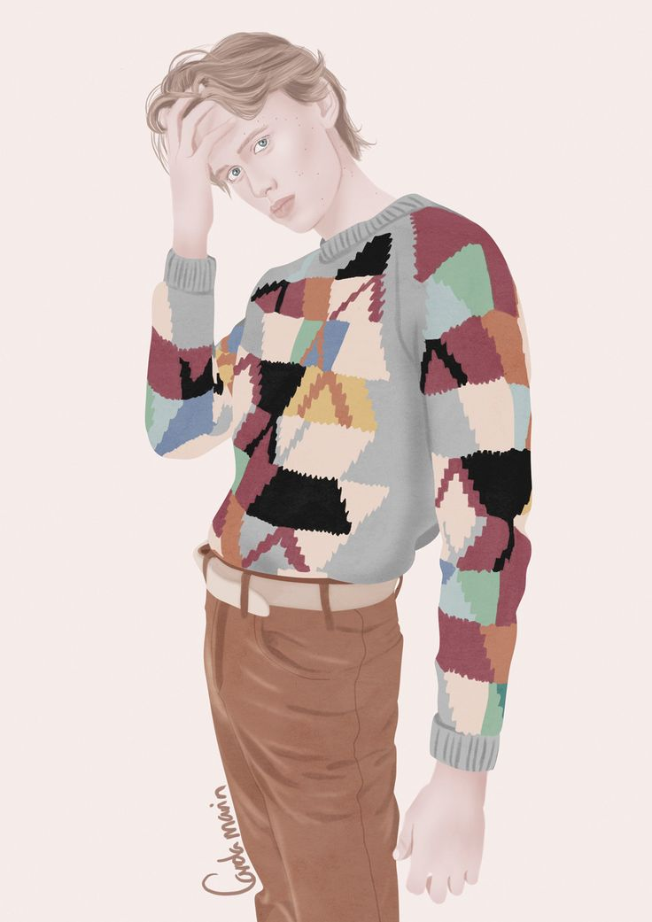 "carolamart: "" Illustration of Henrik Holm photographed by Frida Marklund """