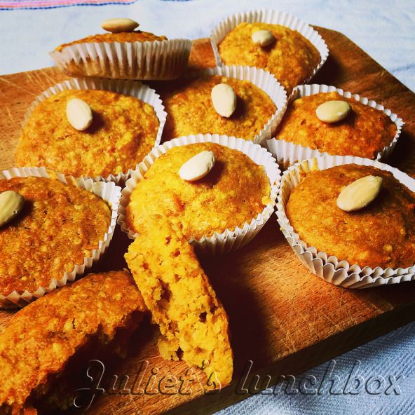 """CARROTS AND ALMONDS MUFFIN WITH GINGER"" on https://julietslunchbox.wordpress.com"