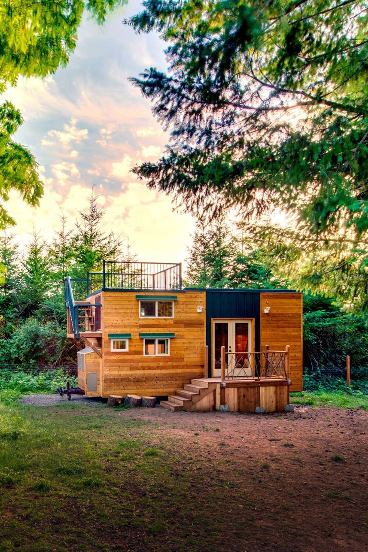 Basecamp was built using an off-grid design that includes solar power, rainwater harvesting, and a composting toilet.