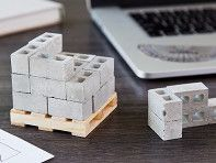 Small (but substantial) these cinder blocks are just like the real-life ones—but one twelfth of the size. Made in the USA from real cement, they make a fun desk toy, entertain tinkerers, and are raw matter for avid DIY-ers. The 24-Pack comes on a wooden pallet that doubles as a coaster. You can use them in conjunction with the mortar to take DYI to a whole new, small-scale level.