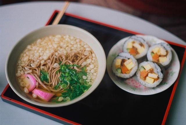 Soba and sushi #sushi #japan #japanese #food
