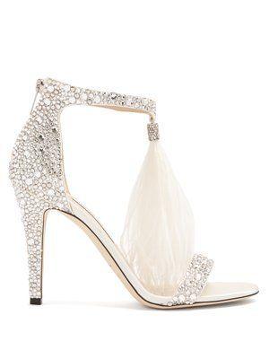e4bf51c9fa9 Viola 100 crystal-embellished suede sandals